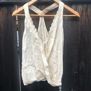 Hollister white crop top size small